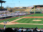 Spring Training in Salt River Field Following Chicago Cubs