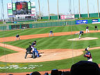 Spring Training in Goodyear Ballpark Following Cleveland