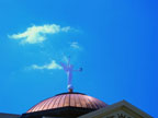 Morning Sightseeing Winged Victory Atop the Copper Dome of Arizona State Capitol