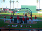 Spring Training in Goodyear Ballpark Batting Practice Following Cleveland