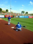 Spring Training at Tempe Diablo Stadium Following Kansas City