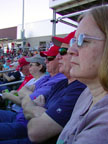Spring Training Fans in Goodyear Baseball Park Following Texas