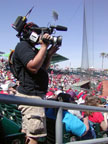 Cameraman at Goodyear Baseball Park Spring Training