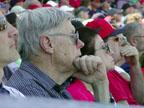 Fans Following Anaheim Spring Training at Goodyear Baseball Park