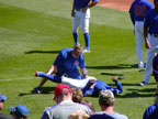 Pre Game Stretch at Sloan Park