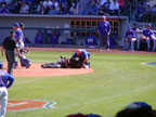 Umpire Down At Sloan Park