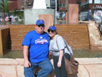 Spring Training Fans at the Goodyear Ballpark Fountain 1