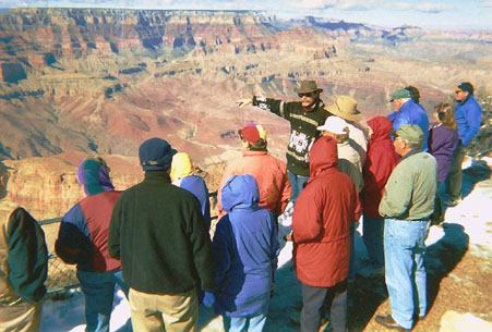 Geology Talk at Lipon Point on the S. Rim of Grand Canyon