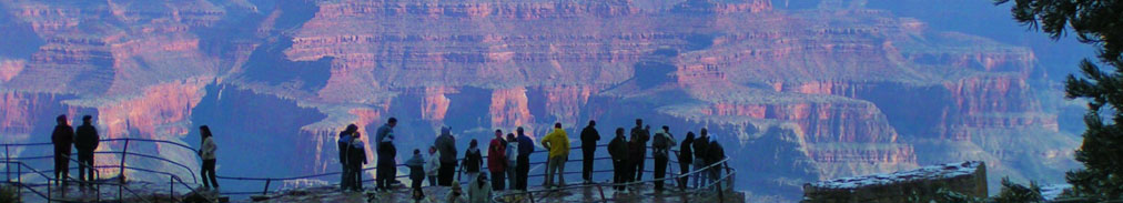S. Rim Visitors at The Grand Canyon on a Winters Day