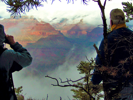 Sublimation Clouds Rising Out of Grand Canyon