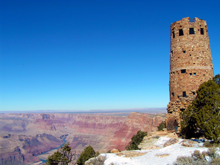 Desert View Tower on the S. Rim of The Grand Canyon