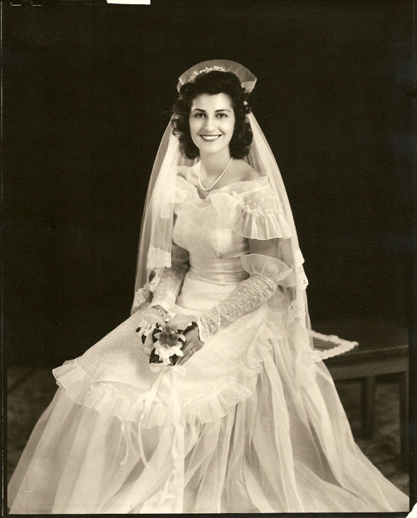 Anita Wiles Offical Wedding Picture, Aug. 28, 1948