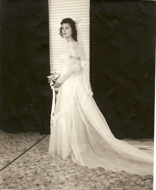 Anita Wiles Rejected Wedding Picture, Aug. 28, 1948