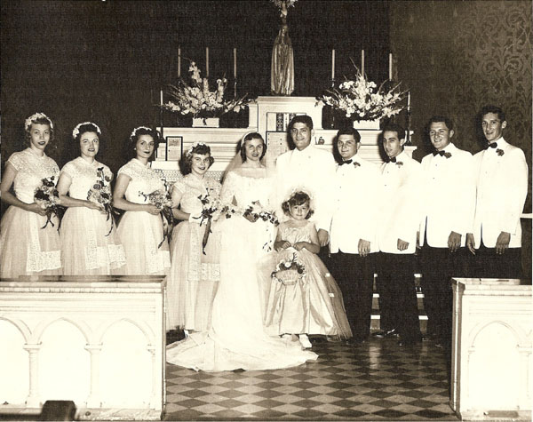 Mark Twain and Florence Common Wedding Party Picture