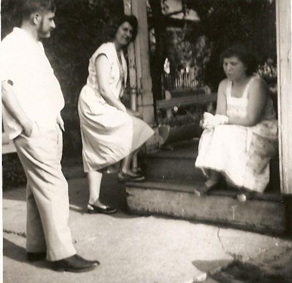 Jim Common, Anita Wiles and Betty Common