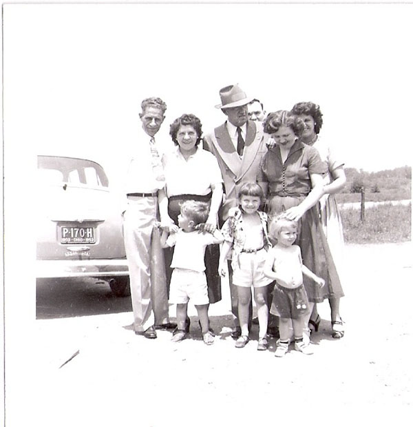 Nic and Marie Common, Neil Lorden, Russell Wiles, Mrs. Bruner, Anita Wiles, Mrs. Bruner's kids
