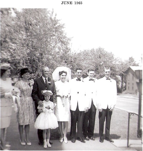Anita Wiles, Mr. &#38 Mrs. Bradley&#40&#63&#41, Becky Wiles &#40front&#41, Kathi and Norman Bradley, Norman's Brother&#40&#63&#41, Cal&#40&#63&#41