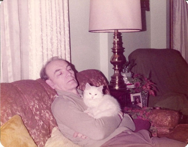 Russell Wiles and Dusty the Cat