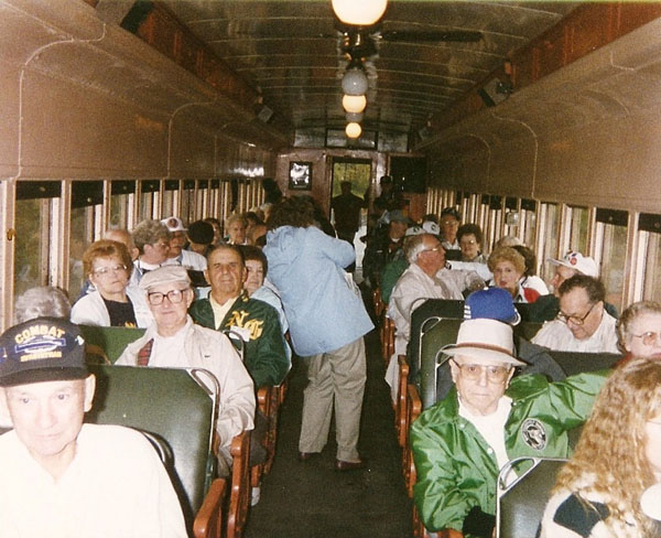 Timberwolves and Spouses on Oil Creek & Titusville Train