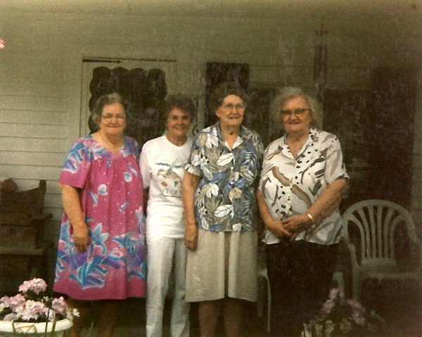 Jenny Bissit, Ann Grundner,  Gay Anderson and Grace Brown
